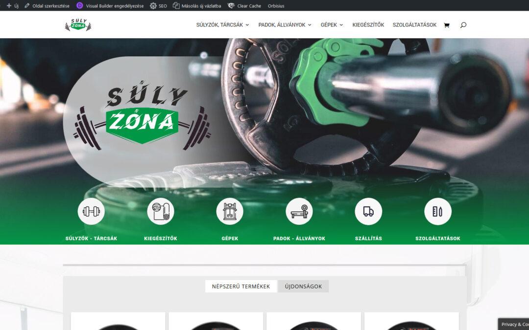 Súlyzóna fitness webáruház